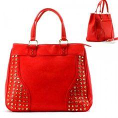 Spikes Rhinestone Purse and Bag / Handbag / Red/ [No Longer Available] #GraffitiLensHandBag