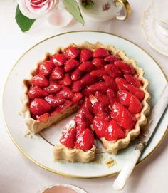 Simple French strawberry tart