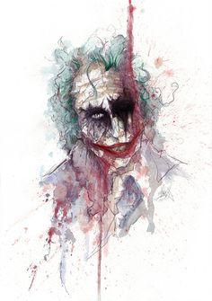 The Joker, the image is a little creepy. but the colors are so pretty. Comic Books Art, Comic Art, Gotham, Heath Ledger Joker, Joker Wallpapers, Joker Art, Im Batman, Batman Universe, Joker And Harley Quinn