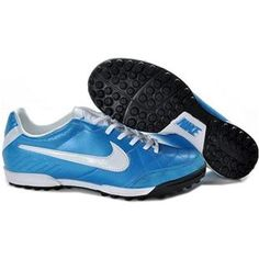 http://www.asneakers4u.com/ Mens Nike Tiempo Legend IV TF Astro Turf Soccer Cleats  Bright Blue White Black