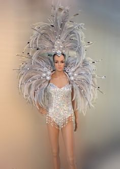 C0707 Feather Moulin Rouge Costume set
