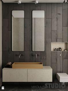 ciemna łazienka - zdjęcie od MIKOŁAJSKAstudio - Łazienka - Styl Nowoczesny - MIKOŁAJSKAstudio
