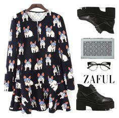 """""""Zaful~Pug dress~"""" by gabygirafe ❤ liked on Polyvore featuring vintage"""