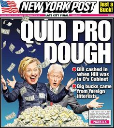 """""""Sexist"""" NY Post Lays Down The Gauntlet On The """"Filthy Rich"""" Clinton Empire"""