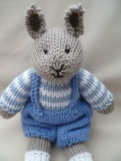 .. Buster, a hand knitted plush bunny rabbit