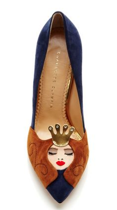 Sleeping Beauty Pumps The pin of the day: These Charlotte Olympia Sleeping Beauty pumps from Moda Operandi, pinned by Erin Loechner, th. Charlotte Olympia, Crazy Shoes, Me Too Shoes, Zapatos Shoes, Shoe Boots, Shoe Bag, Mocassins, Suede Pumps, Pumps Heels
