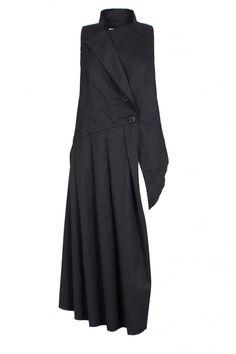 Black Pleat Panel Waistcoat