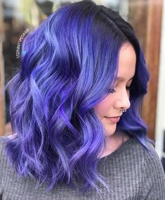 52 Ideas womens hair color purple for 2019 Pulp Riot Hair Color, Vivid Hair Color, Cute Hair Colors, Beautiful Hair Color, Hair Color Purple, Hair Dye Colors, Indigo Hair Color, Bright Hair Colors, Indigo Blue