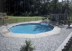 small inground pools for small yards | Rainbow Pools and Spas - Patio