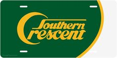 """Southern Railway """"Southern Crescent"""" scheme on license plate."""