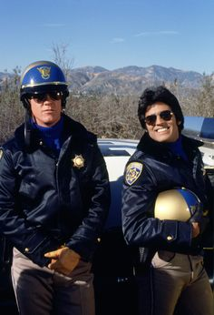 """""""Chips"""" TV show (1977-1983) - Erik Estrada played Officer 'Ponch', Robert Pine played Sgt. Joseph Getraer, and Ponch's straitlaced partner was Officer Jonathan """"Jon"""" Baker, played by Larry Wilcox. CHiPs followed the lives of two motorcycle police officers of the California Highway Patrol.  CHiPs was a lightweight action crime drama, which included elements of comedy in every episode.  There was actually very little violence in the show."""