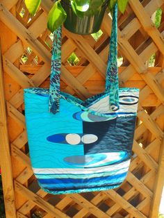 Re-Cycled Emilio Pucci Fabric Tote by Kath G. at Pillow Talk in Bermuda.