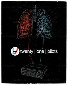 twenty | one | pilots Poster by 50ft Monkey on CreativeAllies.com