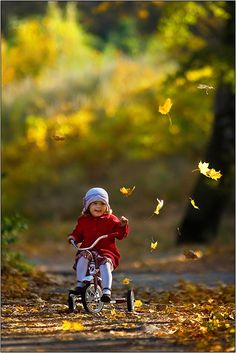"""I still get wildly enthusiastic about little things… I play with leaves, I skip down the street and run against the wind."" -