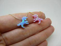 Unicorn necklace Unicorn jewelry Pink unicorn Horse