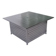 Square Aluminum Propane Fire Pit Table
