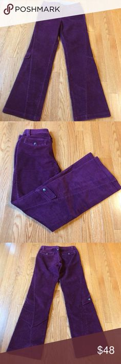 """✨ATHLETA Corduroy Dipper Pant Size 2✨ oh yes! This is the pant you have been searching for. the discontinued Dipper Pant is available in both silver and mulberry in my closet. this pair, in Mulberry will compliment all of your favorite Autumn colors. mid rise, boot cut, zip&snap closure (drawstring removed) 2 front & 2 back pockets, one fun pocket on each leg. EUC. measurements: across waist 15"""", inseam 30"""", rise 9"""". Sexy, Sporty, YOU! Athleta Pants Boot Cut & Flare"""
