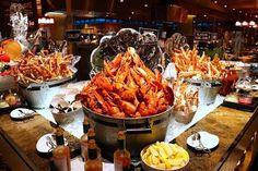 Seafood Buffet, Seafood Platter, Seafood Paella, Seafood Dinner, Japanese Buffet, Ahi Poke, Best Buffet, Steamed Mussels, Dining Buffet