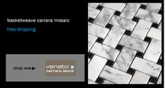 Builder Depot - Great prices on tile with some free shipping. Premium Basketweave Carrara Mosaics