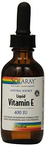Solaray Liquid Vitamin E 400 IU Supplement 2 Fluid Ounce *** More info could be found at the image url.