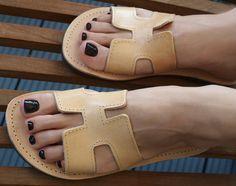 #etsy shop: Leather Sandals Greek Summer Shoes Black Beach Wear Gladiator Strappy Ancient Greece Shape Flats Slide In Flip Flop Boho Natural Colour Hera #clothing #shoes #women #leather #sandals #greek #summershoes #black #beachwear #hermes #beachwear #sandals #flipflops https://etsy.me/2jIla5Y
