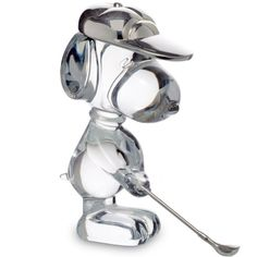 Escultura Snoopy Golfista, Baccarat, 2603188