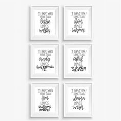 Parks and Rec Print Bundle Leslie And Ben, Donna Meagle, Ben Wyatt, Andy Dwyer, April Ludgate, Leslie Knope, Ron Swanson, Parks N Rec, Etsy Crafts