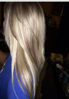 beautiful long silvery blonde hair by Nina #blondehair
