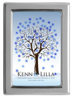 Peachwik. Snowflake guest book!!! Perfect for winter lovers ...