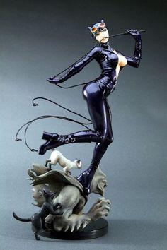 Kotobukiya DC X Bishoujo Collection: Catwoman Bishoujo Statue Catwoman Images, Batman And Catwoman, Batgirl, Comic Manga, Comic Art, Comic Books, Bishoujo Statue, Catwoman Cosplay, Anime Figures