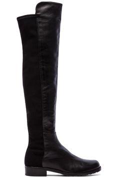 Stuart Weitzman 5050 Stretch Leather Boot in Black
