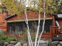 When cabin owners arrive, they open their shades and enjoy the fresh air -- bug free!!