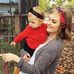 Love this sweet Mama moment! Our Red Plaid headband and our Black Ribbon Lace are both available now in our shop! Www.blueeyedbabycouture.com