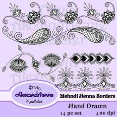 Mehndi Henna Borders