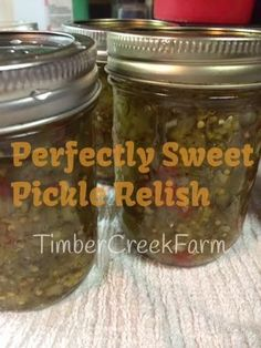 Perfectly Sweet Pickle Relish