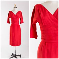 Vintage 50s Dress  Embers Aglow  Alfred Shaheen by SimplyVintageCo