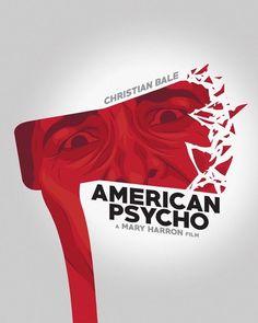 BROTHERTEDD.COM - American Psycho by B-boyAlfelor on DeviantArt Best Horror Movies, Horror Movie Posters, Cinema Posters, American Psycho Poster, Pop Art, Film Poster Design, Minimal Poster, Best Horrors, Alternative Movie Posters