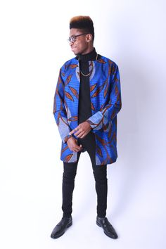 Men's Ankara Long Coat African Print