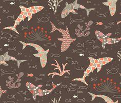Deep Sea Beauty Contest fabric by kayajoy on Spoonflower - custom fabric