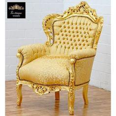 Bank barok 2 stoel blauw