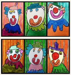 Dessin guidé Art For Kids, Crafts For Kids, Arts And Crafts, Rockin Robin, Circus Art, Send In The Clowns, Carnival Themes, Kindergarten Art, Art Lesson Plans
