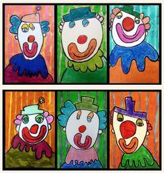 Dessin guidé Art For Kids, Crafts For Kids, Arts And Crafts, Rockin Robin, Circus Art, Carnival Themes, Kindergarten Art, Art Lesson Plans, Art Plastique