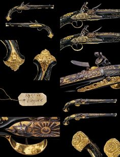 Exceptional pair of flintlock pistols, Paris 1800.