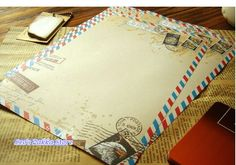 Grátis frete estilo Retro Kraft papel carta escrita papel Stamp Design artigos de papelaria em Papel de carta de Escritório & material escolar no AliExpress.com | Alibaba Group