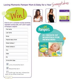 Enter to Win $$ Loving Moments Pamper Mom & Baby for a Year Sweepstakes! #LovingMomentsBr @SheSpeaks
