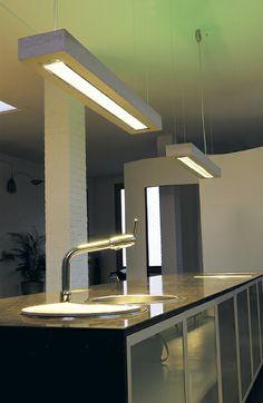 d-CONCRETE DARK / design / lighting / darling #DARK Concrete, Sink, Lighting, Lofts, Bench, Journal, Design, Pendant, Home Decor
