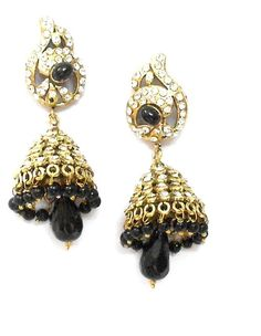 Checkout our #arrascreations product Imitation Designer Victorian Zhumka Bollywood Earring / AZERVE4010-GBK. Buy now at http://www.arrascreations.com/imitation-designer-victorian-zhumka-bollywood-earring-azerve4010-gbk.html
