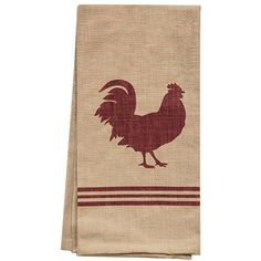 100% Cotton Rooster Dish Kitchen Towels, Set of 4