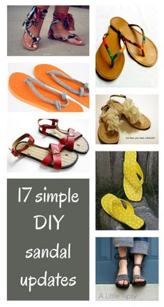 diy home sweet home: 17 Simple Sandal Updates