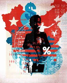 New Scientist / 'Inequality' - Alex Williamson, Graphic Images / Illustration Protest Kunst, Protest Art, Collage Illustration, Illustration Styles, Collage Art, Illustrations, Gravity Art, Crane, Political Art